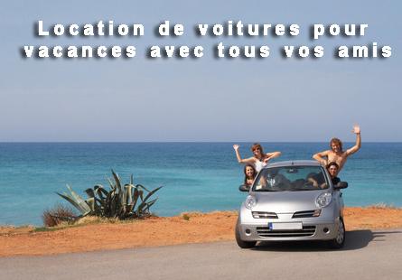 Location de voitures pour vacances avec vos amis