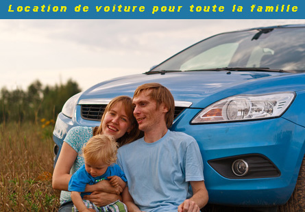 Location de voitures pour toute la famille